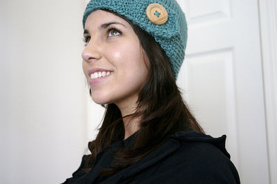 Seed stitch band hat