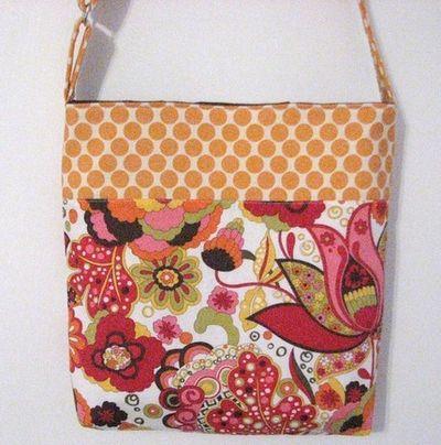 Orange pink bag