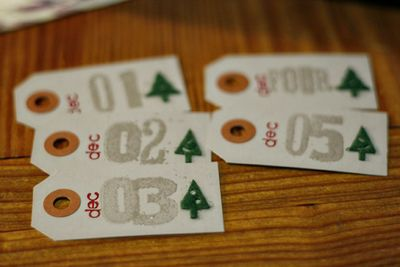 Number tags 01