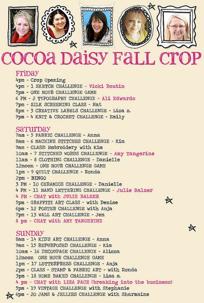 Crop schedule