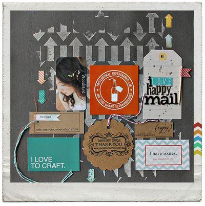 I-love-happy-mail-~-framed