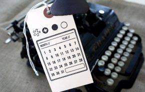 Calendar stamp