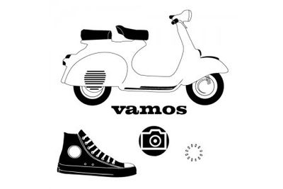 Vespa tour stamp set